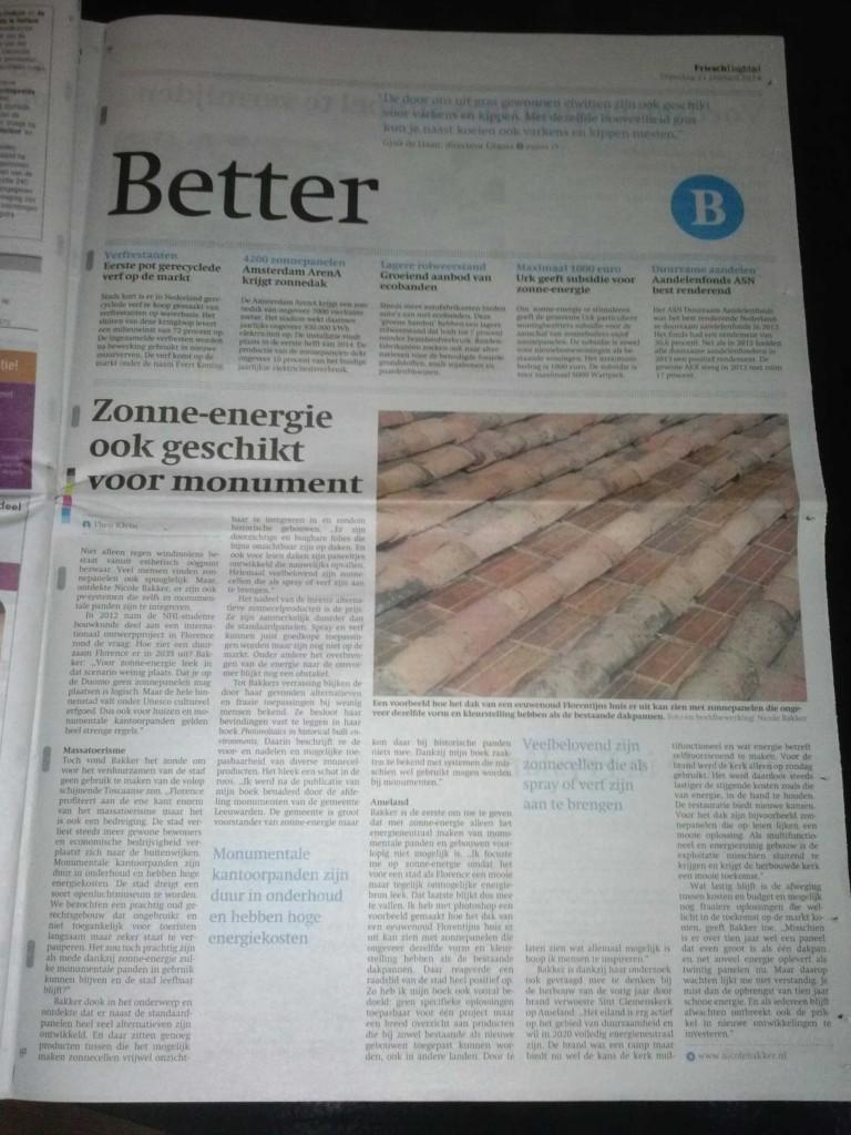 Friesch dagblad 21-01-2014