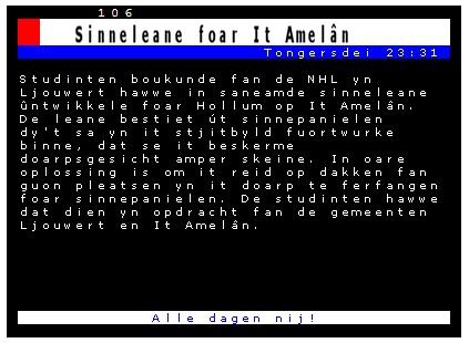 Teletekst omrop Fryslân
