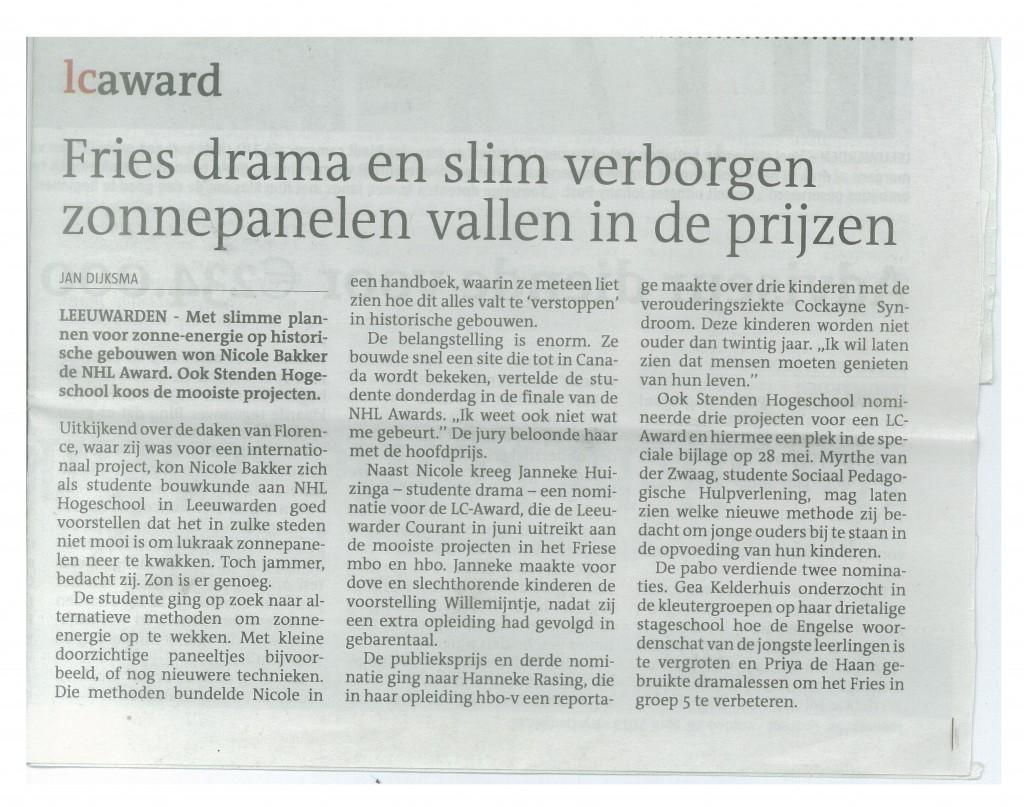 Leeuwarder Courant 26-04-2013