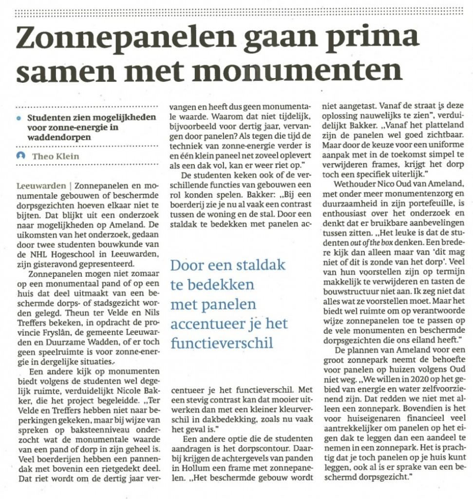 Friesch Dagblad 06-02-2015