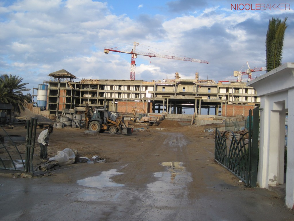 Dit is de achterzijde van het hotel in Port el Kantaoui