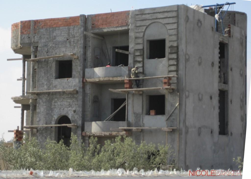 Bouwwerk nabij Port el Kantaoui (27-02-2014)